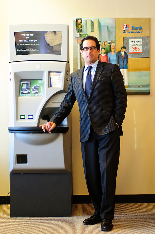 AztecAmerica Bank President & CEO Carlos Montoya oversee two community branch locations in Chicago and neighboring Berwyn.