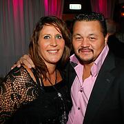 NLD/Uitgeest/20100118 - Uitreiking Geels Populariteits Awards van NH 2009, Lesley Williams en partner