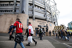 Fans arrive at the ground - Rogan Thomson/JMP - 25/02/2017 - FOOTBALL - St James' Park - Newcastle, England - Newcastle United v Bristol City - Sky Bet EFL Championship.
