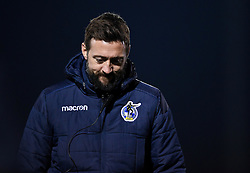 Bristol Rovers assistant manager Jack Mesure after the final whistle of the match - Mandatory by-line: Ryan Hiscott/JMP - 12/01/2021 - FOOTBALL - Memorial Stadium - Bristol, England - Bristol Rovers v AFC Wimbledon - Papa John's Trophy