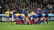 Florin Surugiu (Romania) appealing after a collapsed scrum during the Rugby World Cup Pool D match between France and Romania at the Queen Elizabeth II Olympic Park, London, United Kingdom on 23 September 2015. Photo by Matthew Redman.