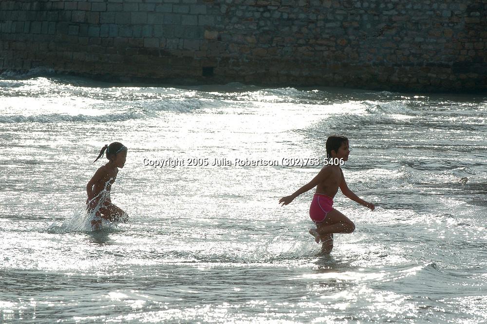 Spainish Girls Frolicking in the Mediterannean