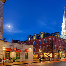 Pleasant Street in Portsmouth, New Hampshire. HDR.