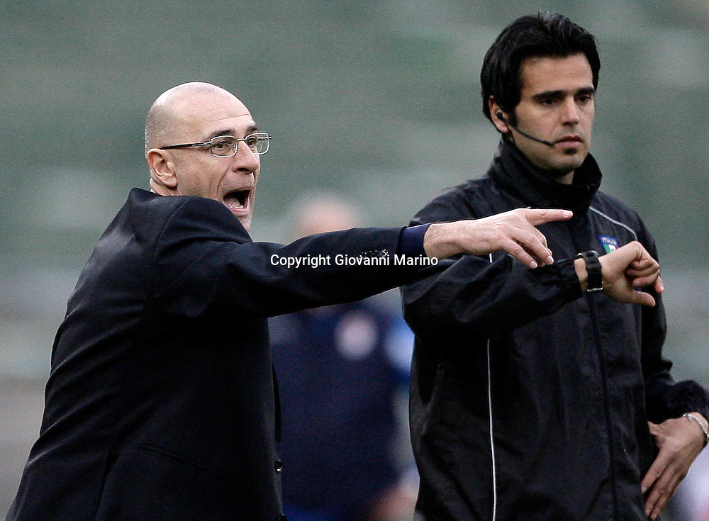 Bari (BA), 13-02-2011 ITALY - Italian Soccer Championship Day 25 - Bari VS Genoa..Pictured: Mr. Ballardini (GE).Photo by Giovanni Marino/OTNPhotos . Obligatory Credit