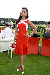 ZOE SALDANA at the Audi International Polo at Guards Polo Windsor Great Park, Egham, Surrey on 28th July 2013.