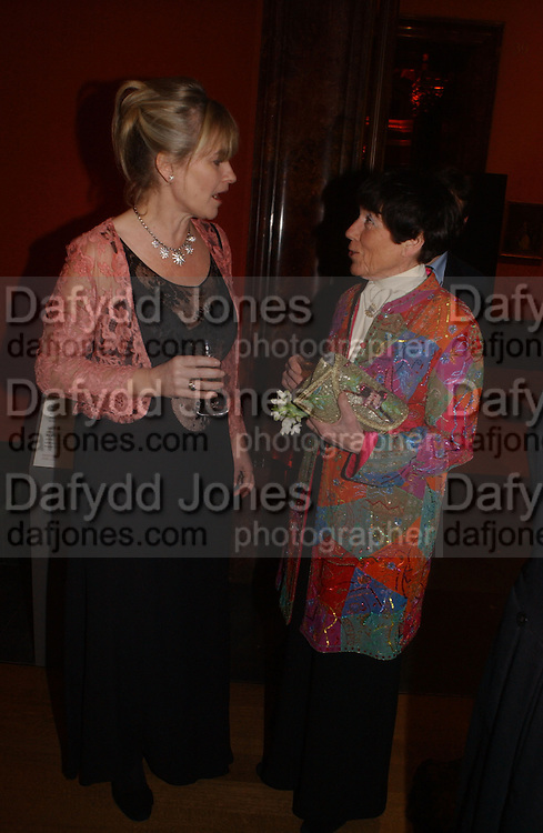 Bonham-Carter and Lady Rothschild, Belle Epoche gala fundraising dinner. National Gallery. 16 March 2006. ONE TIME USE ONLY - DO NOT ARCHIVE  © Copyright Photograph by Dafydd Jones 66 Stockwell Park Rd. London SW9 0DA Tel 020 7733 0108 www.dafjones.com
