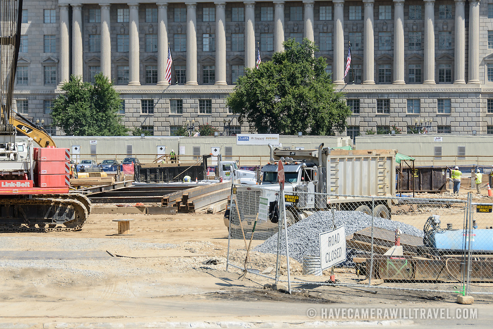 Smithsonian National Museum of African American History and Culture Construction Zone. The Smithsonian National Museum of African American History and Culture is being constructed on the National Mall at Constitution Avenue between 14th and 15th Street NW. Status as of July 2, 2012. The projected completion date is Fall 2015.
