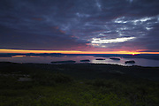Sunrise from Cadillac Mountain, Acadia National Park, Maine (US).