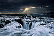 """Light and Recession"", a blowhole on the island of Kauai, Hawaii"