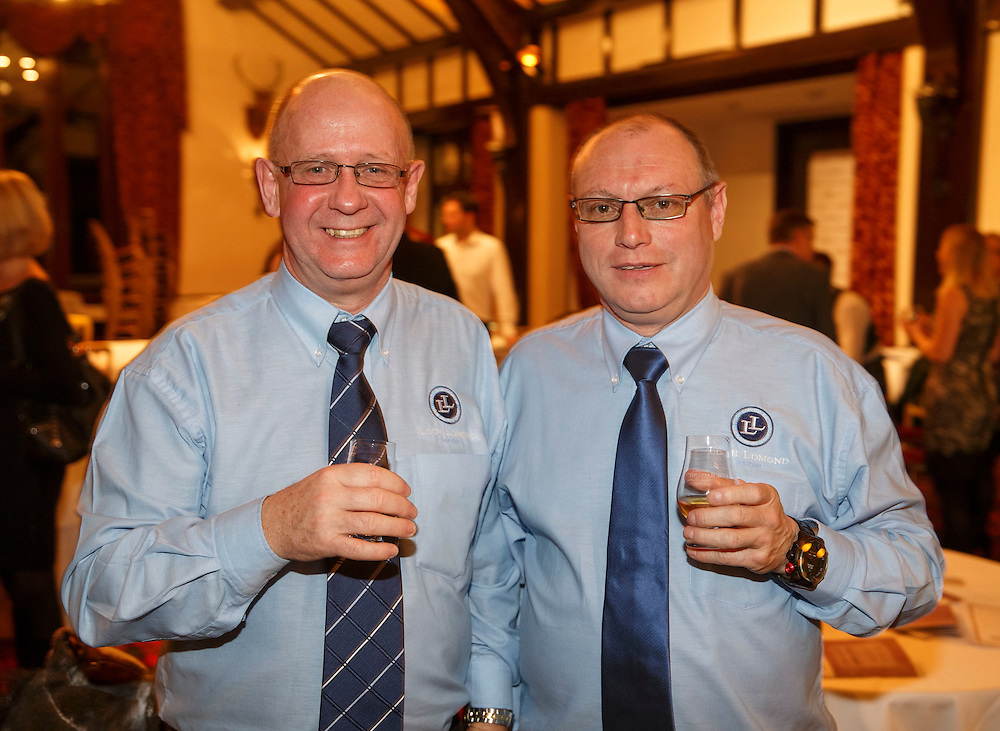 Burns Supper event in at the Brig o'Doon Hotel in Alloway.  Ian McPike, General Manager and Colin Blackwood , Master Blender at Loch Lomond Whisky Group Catrine.  Picture Robert Perry  24th Jan 2016<br /> <br /> Must credit photo to Robert Perry<br /> FEE PAYABLE FOR REPRO USE<br /> FEE PAYABLE FOR ALL INTERNET USE<br /> www.robertperry.co.uk<br /> NB -This image is not to be distributed without the prior consent of the copyright holder.<br /> in using this image you agree to abide by terms and conditions as stated in this caption.<br /> All monies payable to Robert Perry<br /> <br /> (PLEASE DO NOT REMOVE THIS CAPTION)<br /> This image is intended for Editorial use (e.g. news). Any commercial or promotional use requires additional clearance. <br /> Copyright 2014 All rights protected.<br /> first use only<br /> contact details<br /> Robert Perry     <br /> 07702 631 477<br /> robertperryphotos@gmail.com<br /> no internet usage without prior consent.         <br /> Robert Perry reserves the right to pursue unauthorised use of this image . If you violate my intellectual property you may be liable for  damages, loss of income, and profits you derive from the use of this image.