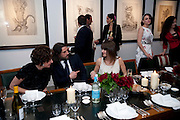 francine Peters; PAUL FRYER; Lucinda Howard;  Lady Bianca Eliot, DESCENT OF MAN. WOLFE LENKIEWICZ . collectors and patrons dinner. 1 MELTON ST. NW1. CHAMPAGNE RECEPTION AND DINNER
