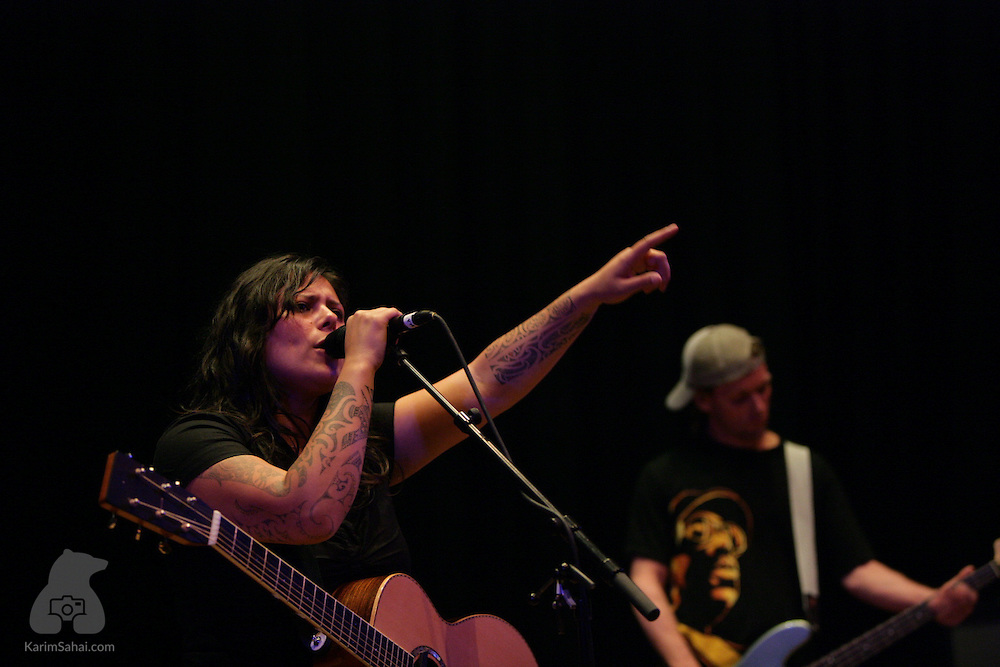 Anika Moa - one of new Zealand's most respected young musicians - performs at the Illot Theatre in Wellington, on october 29 2005.