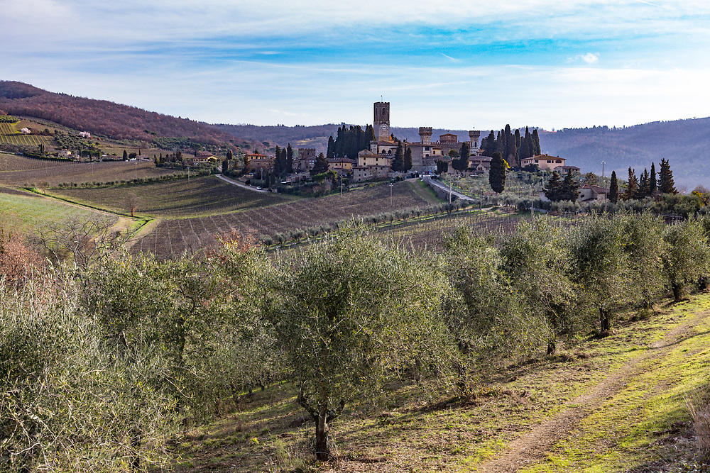 The Badia di Passignano (the Abbey of San Michele Arcangelo a Passignano) is a historic Benedictine abbey founded in AD 395. Archives in the monastery report many prominent events, including the stay of Galileo Galilei in 1587-1588 as a mathematics teacher.