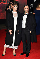 Elvira Lind (right) and Oscar Issac attending the european premiere of Star Wars: The Last Jedi held at The Royal Albert Hall, London.