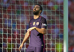 LONDON, ENGLAND - Saturday, August 6, 2016: Barcelona's Arda Turan looks dejected after missing a chance against Liverpool during the International Champions Cup match at Wembley Stadium. (Pic by David Rawcliffe/Propaganda)