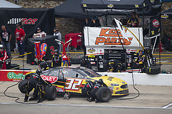 June 10, 2018 - Brooklyn, Michigan, United States of America - Matt DiBenedetto (32) makes a pit stop during the FireKeepers Casino 400 at Michigan International Speedway in Brooklyn, Michigan. (Credit Image: © Stephen A. Arce/ASP via ZUMA Wire)