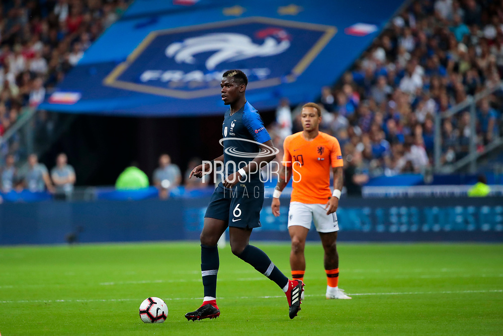Paul Pogba (FRA) during the UEFA Nations League, League A, Group 1 football match between France and Netherlands on September 9, 2018 at Stade de France stadium in Saint-Denis near Paris, France - Photo Stephane Allaman / ProSportsImages / DPPI