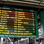 USA/New Yok/20120301 - New York, Amtrack treinstation Hoboken, dienstregeling