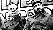 Salvador Allende Gossens 1908 –1973 (left) president of Chile 1970-73, with Fidel Castro born 1926, (Cuban politician and Prime Minister of Cuba from 1959 to 1976, and President 1965-2008.