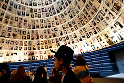 May 2, 2019 - Jerusalem, Israel - People visit Yad Vashem Holocaust Memorial Museum marking the annual Holocaust Remembrance Day at the Yad Vashem Holocaust Memorial in Jerusalem. Israelis stood silent and sirens rang out for two minutes as the country held its annual remembrance of the six million Jewish victims of the Holocaust. (Credit Image: © Gil Cohen-Magen/Xinhua via ZUMA Wire)