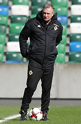 Northern Ireland manager Michael O'Neill during the training session at Windsor Park, Belfast.