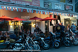 Dusk in Weirs Beach during Laconia Motorcycle Week. NH, USA. Tuesday, June 12, 2018. Photography ©2018 Michael Lichter.
