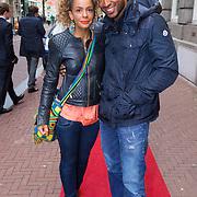 NLD/Amsterdam/20130613 - Inloop feestje Ferry Doedens, Fajah Lourens en partner Melvin van den Berg