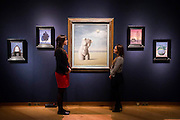 A Magritte wall - Christie's Impressionist, Modern and Surrealist Art pre-sale exhibition ahead of the Evening sale on 4 February. Highlights include: Cézanne's Vue sur L'Estaque et Le Château d'If, from the collection of Samuel Courtauld, which is coming to the market for the first time since it was acquired 79 years ago, in 1936 (estimate: £8-12 million); The most valuable group of Surrealist art ever to be offered at auction, featuring a group of works by Magritte and Miró, led by Joan Miró's L'oiseau au plumage déployé vole vers l'arbre argenté, 1953, from a Distinguished European Collection (estimate: £7-9 million); Amedeo Modigliani's rare double portrait Les deux filles, 1918 (estimate: £6-8 million); Femme de Venise V by Alberto Giacometti (estimate: £6-8 million); Juan Gris's La Lampe, 1914, which is considered to be among the artist's greatest contributions to Cubism (estimate: £2.5-3.5 million); Paysage à L'Estaque, 1907, by Georges Braque (estimate: £2-3 million); An important group of German works from the collection of industrial chemist Carl Hagemann, representing three of the four founding artists of the Die Brücke movement, led by one of the masterpieces of Die Brücke art: Badende am Waldteich by Erich Heckel, along with key works by Ernst Ludwig Kirchner and Karl Schmidt-Rottluff; and other important works by Chagall, Moore, Picabia, Arp, Ernst, Tanguy and Dominguez. The auction has a total pre-sale estimate of £92.8 million-£133.8 million. Christie's, King Street, London, UK.