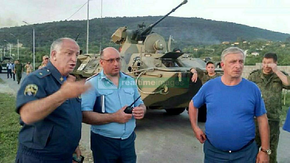 August 2, 2017 - Abkhazia - August 2, 2017. - Abkhazia. On Wednesday, an explosion rocked the Abkhazian Defense Ministry's ammunition depot located in the Primorskoye settlement, Gudautsky District. As a result, up to 60 people were injured, 27 of whom had to be taken to hospitals. The bodies of two women have been found, who were tourists from Saint Petersburg and died of shrapnel wounds. The tourists must have been killed while returning from a trip to a local waterfall. Photo: Ministry of Emergency Situations of Abkhazia (Credit Image: © Russian Look via ZUMA Wire)