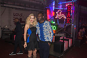 RITA ORA; WRETCH 32, Club DKNY in celebration of DKNYARTWORKS hosted by Cara Delevingne  at The Fire Station, Lambeth High St. London. 12 June 2013