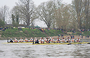 Putney, London, Varsity Boat Race, 07/04/2019, Embankment, Oxford V Cambridge, Men's Race, Women's Race, Championship Course,<br /> [Mandatory Credit: Patrick WHITE], Sunday,  07/04/2019,  2:15:34 pm,