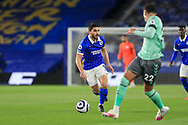 Brighton and Hove Albion forward Neal Maupay (9) during the Premier League match between Brighton and Hove Albion and Everton at the American Express Community Stadium, Brighton and Hove, England UK on 12 April 2021.