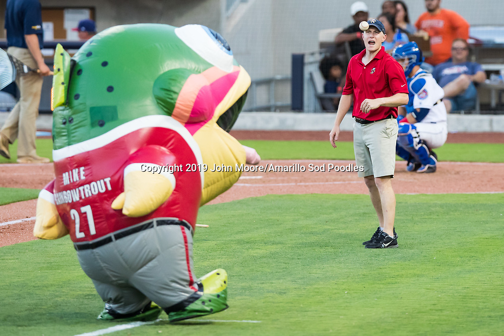 The Zooperstars performed during the Amarillo Sod Poodles game against the Northwest Arkansas Travelers on Saturday, July 20, 2019, at HODGETOWN in Amarillo, Texas. [Photo by John Moore/Amarillo Sod Poodles]