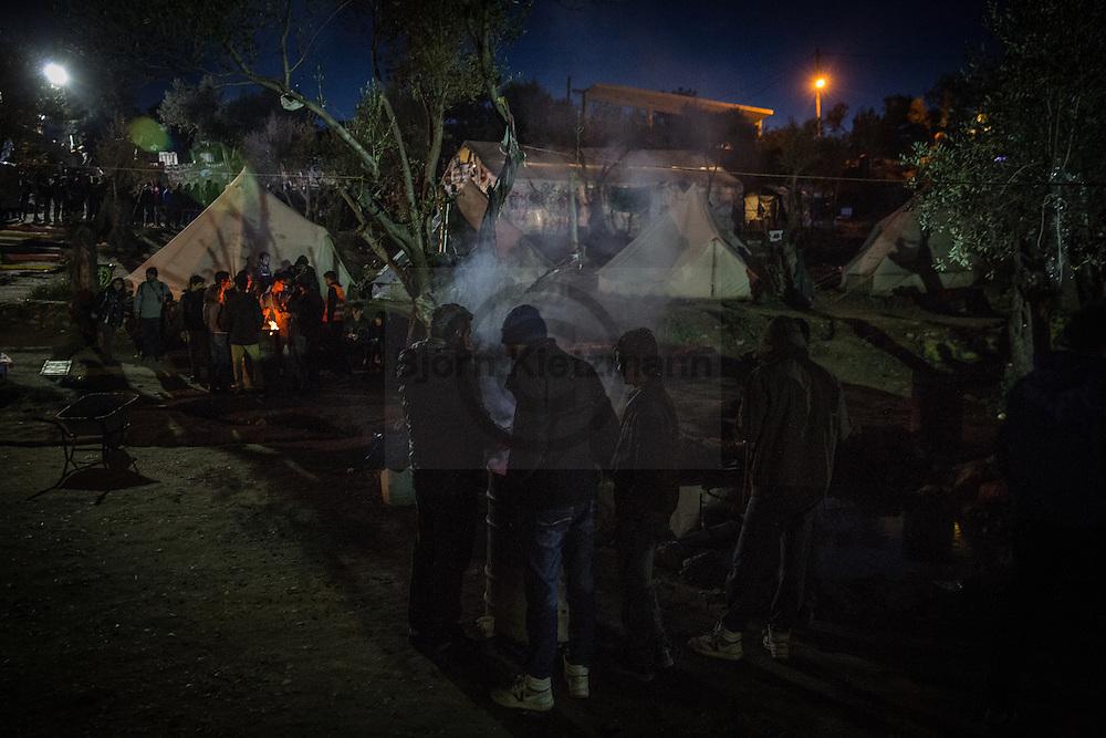 """Moria, Lesvos, Greece - 05.03.2016        <br /> <br /> Better Days in Moria Refugee camp on the Greek island Lesvos. Besides the official refugee camp run volunteers the """"Better days for Moria""""-Camp as another refugee shelter.<br /> <br /> Better Days in Moria Flüchtlingsunterkunft auf der griechischen Insel Lesbos. Neben dem offiziellen Fluechtlingslager, haben Helfer das """"Better days for Moria""""-Camp als weitere Unterkunft errichtet<br /> <br /> Foto: Bjoern Kietzmann"""