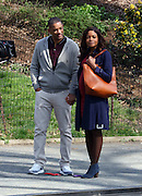 Apr 06, 2016 - New York City, NY, USA - Actors Will Smith and Naomie Harris were on the Central Park set of the new movie 'Collateral Beauty' . Also Keira Knightley and Helen Mirren <br /> (Credit Image: © Exclusivepix Media)