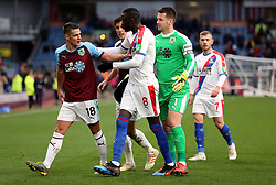 Burnley's Ashley Westwood and Crystal Palace's Cheikhou Kouyate confront each other during the Premier League match at Turf Moor, Burnley.