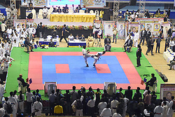 July 30, 2017 - Kolkata, West Bengal, India - Participant from different country takes part in the 3rd International Open Karate Championship at Netaji Indoor Stadium on July 30, 2017 in Kolkata. (Credit Image: © Saikat Paul/Pacific Press via ZUMA Wire)