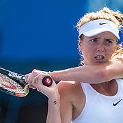 August 25, 2016, New Haven, Connecticut: <br /> Elina Svitolina of Ukraine in action during Day 7 of the 2016 Connecticut Open at the Yale University Tennis Center on Thursday, August  25, 2016 in New Haven, Connecticut. <br /> (Photo by Billie Weiss/Connecticut Open)