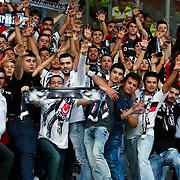 Besiktas's supporters during their Turkish Super League soccer match Genclerbirligi between Besiktas at the 19 Mayis stadium in Ankara Turkey on Monday, 21 September 2015. Photo by Kurtulus YILMAZ/TURKPIX