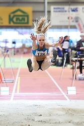 Laura Tølløse. Danske Mesterskaber indendørs i atletik 2017  i Spar Nord Arena, Skive, Denmark, 18.02.2017. Photo Credit: Allan Jensen/EVENTMEDIA.