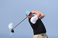 Caolan Rafferty (Dundalk) on the 1st tee during Round 4 of The West of Ireland Open Championship in Co. Sligo Golf Club, Rosses Point, Sligo on Sunday 7th April 2019.<br /> Picture:  Thos Caffrey / www.golffile.ie