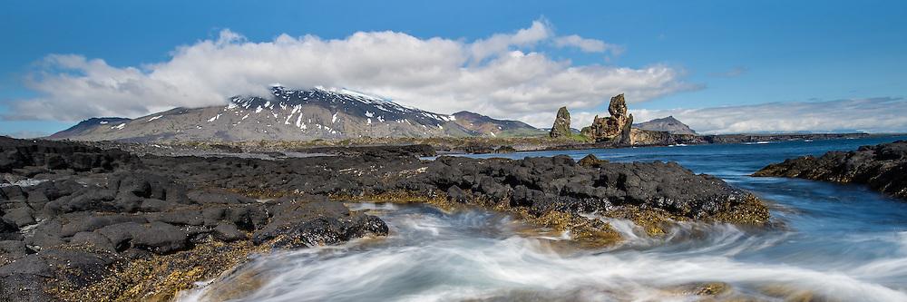 Lóndrangar in Snæfellsnes, peninsula. Taken in west-Iceland