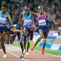ZURICH, SWITZERLAND - AUGUST 24: Mo Farah of Great Britain wins in the Mens 5000 metres during the Diamond League Athletics meeting 'Weltklasse' on August 24, 2017 at the Letziground stadium in Zurich, Switzerland. (Robert Hradil/Getty Images) #GettyImages #RobertHradil