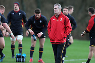 Robert Howley, the Wales coach looks on during the Wales Rugby team training at the Vale Resort, Hensol near Cardiff, South Wales on Thursday 2nd Feb 2017.  The team are preparing for the the RBS Six nations match against Italy.  pic by  Andrew Orchard, Andrew Orchard sports photography.