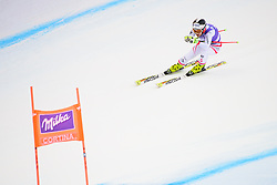 January 19, 2018 - Cortina D'Ampezzo, Dolimites, Italy - Nicole Schmidhofer of Austria competes  during the Downhill race at the Cortina d'Ampezzo FIS World Cup in Cortina d'Ampezzo, Italy on January 19, 2018. (Credit Image: © Rok Rakun/Pacific Press via ZUMA Wire)