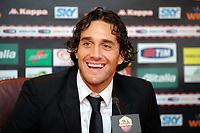 Luca Toni<br /> Roma 2/1/2010 <br /> Conferenza stampa di presentazione nuovo acquisto AS Roma <br /> Press Conference <br /> Foto Andrea Staccioli Insidefoto