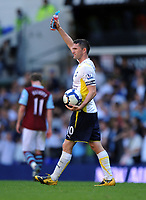 Robbie Keane Celebrates after the final whistle with his Match Ball<br /> Tottenham Hotspur 2009/10<br /> Tottenham Hotspur V Burnley (5-0) 26/09/09<br /> The Premier League<br /> Photo Robin Parker Fotosports International