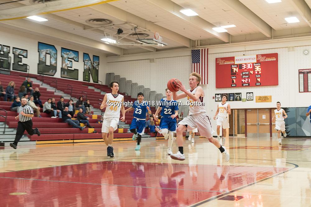 The Rocky Mountain High School Men's C Basketball team plays Fort Lupton, November 30, 2018.