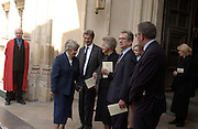 Dame Jennifer,  Charles Jenkins, Shirley Williams and William Rodgers. Service of thanksgiving for the Life and work of Lord Jenkisn of Hillhead. Westminster Abbey. 27 March 2003. © Copyright Photograph by Dafydd Jones 66 Stockwell Park Rd. London SW9 0DA Tel 020 7733 0108 www.dafjones.com