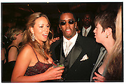 MARIA CAREY; SEAN COMBS.  Vanity Fair Oscar night party. Mortons. Los Angeles. 28 March 1998. <br /> © Copyright Photograph by Dafydd Jones 66 Stockwell Park Rd. London SW9 0DA<br /> Tel 0171 733 0108<br /> www.dafjones.com